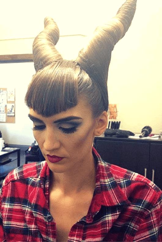 Peinado Maléfica Halloween