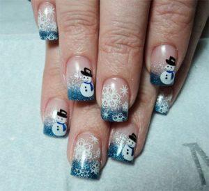 decorar uñas en navidad