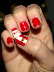 Decoración uñas de Santa Claus