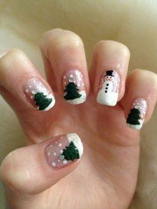 Decoración uñas navidad de Santa Claus