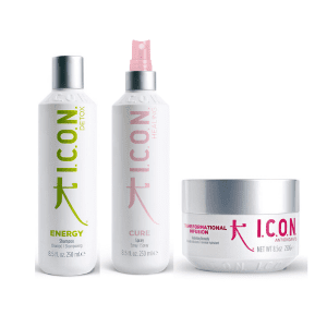 Pack ICON Limpieza detox y Suavidad energy cure spray e infusion